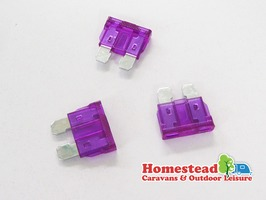 W4 3 Amp Blade Fuse Purple - Pack of 3