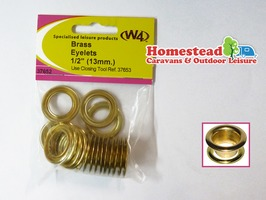 W4 Brass Tent Eyelets 13mm - Pack of 10