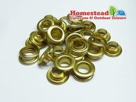 W4 Brass Tent Eyelets 9.5mm - Pack 10