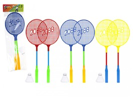 "Badminton Set with two 18"" Racquets & Shuttlecock"