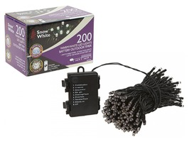 200 Warm White LED Fairy Lights - Multi Function
