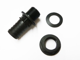 "3/4"" Straight Tank Connector with Seal and Nut"