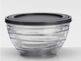 Flamefield 3 Piece Clear Acrylic Container Set with Lids