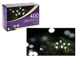400 Warm White LED Fairy Lights - Multi Function