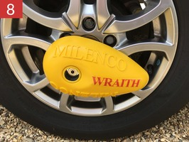 Milenco Wraith Caravan Wheel Lock
