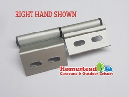 "Static Caravan Aluminium Door Hinge 4"" - Left Hand"
