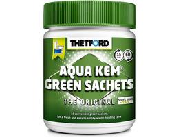 Thetford 15 Aqua Kem Green Sachets in a Resealable Tub