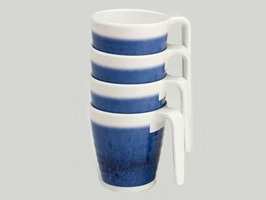Flamefield Azure Melamine Mug Set 4 Pack