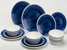 Flamefield Azure 12pce Melamine Tableware Set