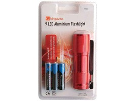 Kingavon 9 LED Aluminium Torch