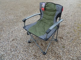 CPL Bermuda Folding King Chair with Solid Arms