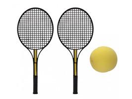 PMS Black Tennis Set With Soft Yellow Ball