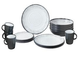 Brunner Granada 16 Piece Stone Touch Melamine Tableware Set