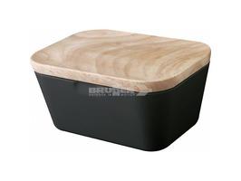 Brunner Melamine Butter Box Dish Granada with Bamboo Lid