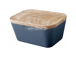 Brunner Melamine Butter Box Dish Tuscany with Bamboo Lid