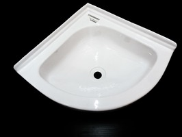 Caravan Basin Corner  Bowl Sink White