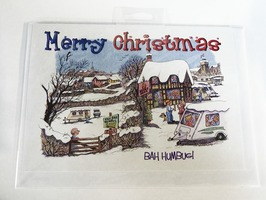 "CD06 ""Bah Humbug"" Christmas Card by Armand Foster (Single)"