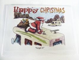 CD07 Caravanning Themed Christmas Card by Armand Foster (Single)