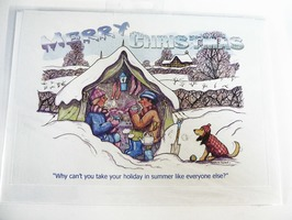 CD109 Tent Themed Christmas Card by Armand Foster (Single)