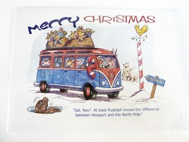 CD111 Campervan Themed Christmas Card by Armand Foster (Single)