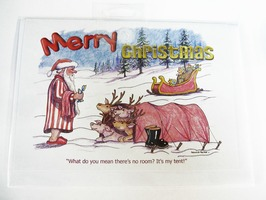 CD113 Tent Themed Christmas Card by Armand Foster (Single)