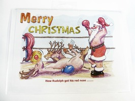 CD121 Cartoon Merry Christmas Card by Armand Foster (Single)