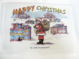 CD174 Caravanning Themed Christmas Card by Armand Foster (Single)