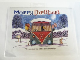 CD237 Campervan Themed Christmas Card by Armand Foster (Single)