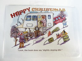 CD275 Caravanning Themed Christmas Card by Armand Foster (Single)