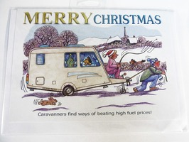 CD276 Caravanning Merry Christmas Card by Armand Foster (Single)