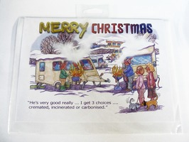 CD277 Caravanning Themed Merry Christmas Card by Armand Foster (Single)