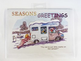 CD278 Motorhome Themed Christmas Card by Armand Foster (Single)