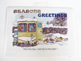 CD327 Caravanning Seasons Greetings Christmas Card by Armand Foster (Single)