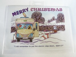 CD330 Motorhome Themed Christmas Card by Armand Foster (Single)