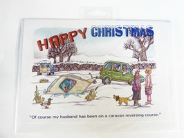 CD384 Caravanning Themed Christmas Card by Armand Foster (Single)