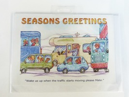CD386 Seasons Greetings Christmas Card by Armand Foster (Single)