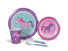 Kampa Unicorns Melamine Childrens Set