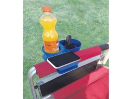 Clip-On Universal Drink Holder with Extra Storage Compartments