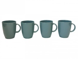 Flamefield Cool Grey Mug Set 4 Pack Non-Slip