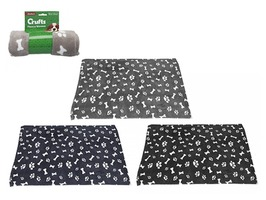 Crufts Coral Fleece Dog Blanket 70 x 100cm - Assorted Colours