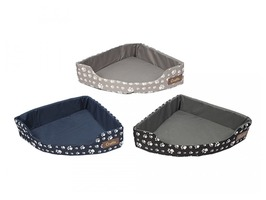 Crufts Corner Pet Bed - Assorted Colours