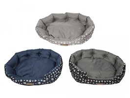 Crufts Large Dog Bolster Bed - Assorted Colours