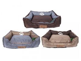 Crufts Medium Oxford Nylon Rectangular Bolster Pet Bed