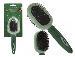 Crufts Soft Grip Double Pin Bristle Brush