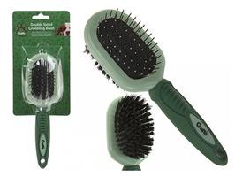 Crufts Soft Grip Double Pin Bristle Brush