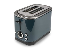 Kampa Deco Stainless Steel High Gloss Grey Electric 2-Slice Toaster