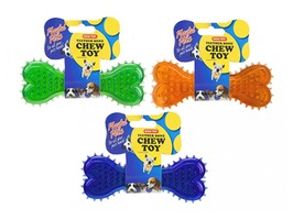 Playful Puppies Dog Chew Teether Bone - Assorted Colours
