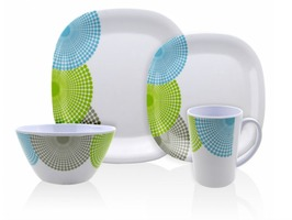 Flamefield Dotty 16pce Malamine Tableware Set