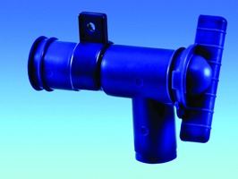 PLS Blue 28 mm Drainage Tap- Food Safe