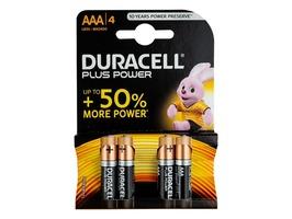 Duracell Plus Power AAA Alkaline Batteries MN2500 set 4